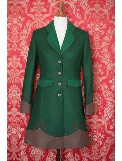Vlněný kabát zelený, fialový nebo červený