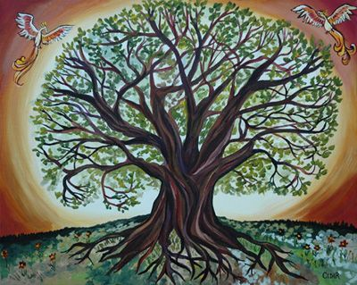 Tree Of Life Art | ... depict a Tree of Life, which they used as a symbol at their wedding