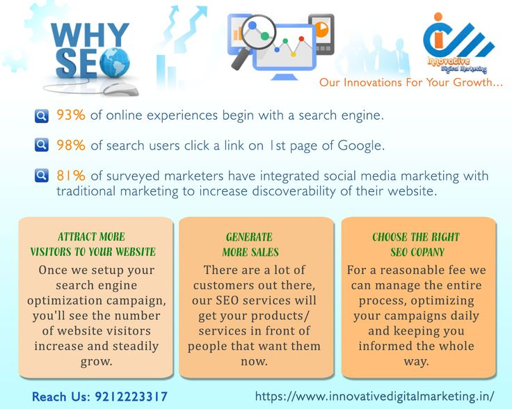 Join SEO Services Company in Delhi for Business Promotion  Let's promote your website with a leading seo services company in delhi where advance level strategies are followed by professionals.  Innovative Digital Marketing is a renowned seo agency in delhi and serving esteemed clients for many years.  With us, you can be sure about rank and traffic at top search engines with best recognition on social media channels. We work on various advance seo tools to promote your website or business…