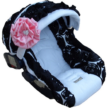 Baby Rose Noir Infant Car Seat Cover - This just makes me smile =)