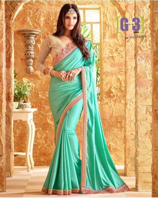 Alluring Bluish Green Silk Designer Saree  #fashion #designersarees #sarees #indianwedding #newlook #newday #love #ethniclook #partywear