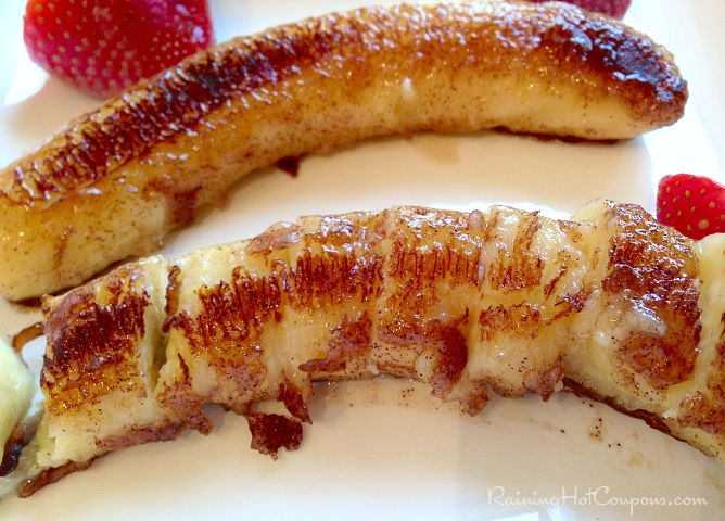 Grilled Bananas Recipe (Cinnamon, Sugar, Coconut Oil!) - Raining Hot Coupons