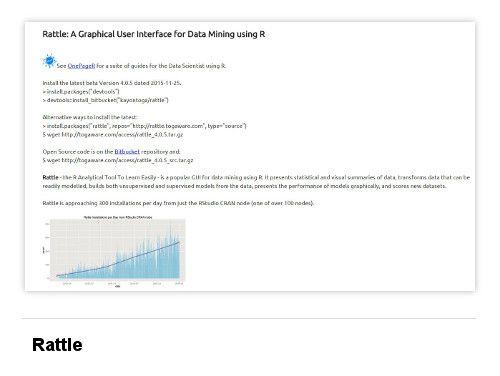 8 Open Source Big Data Mining Tools: Rattle  #data #mining #software
