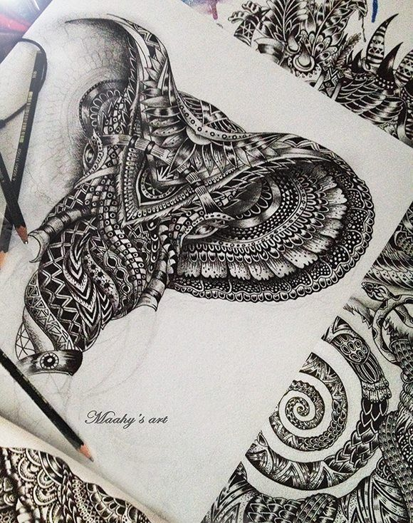 1000 images about Zentangle Elephant