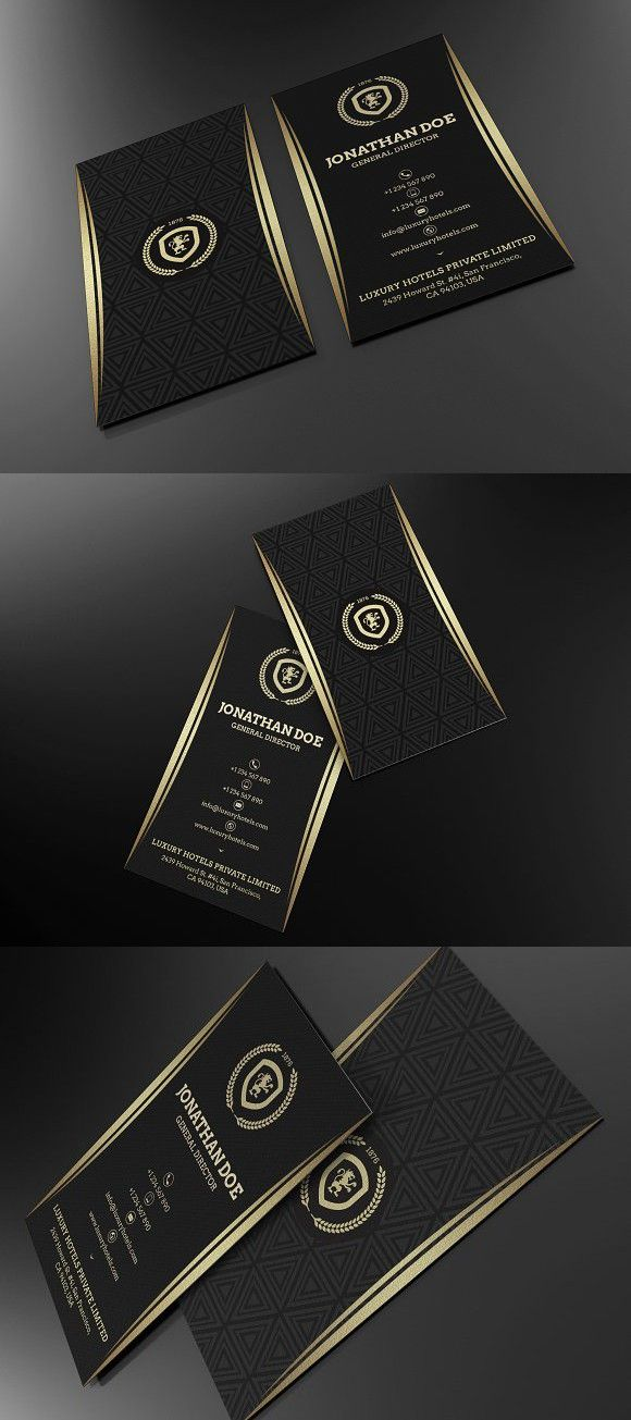 Gold And Black Business Card 55 Black Business Card Luxury Business Cards Stylish Business Cards