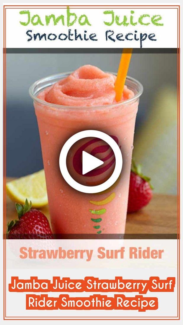 Juice Recipes 96264 Jamba Juice Strawberry Surf Rider Smoothie Tastes Like A Sweet Summer Lemonade With In 2020 Smoothie Recipes Strawberry Jamba Juice Summer Lemonade