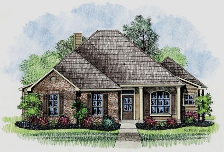 653452 country french 4 bedroom under 2000 square feet for Home plans under 2000 sq ft