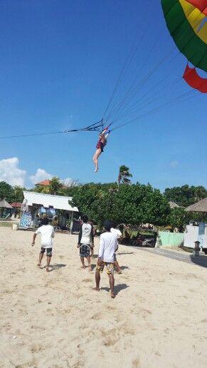 Landing from parasailing
