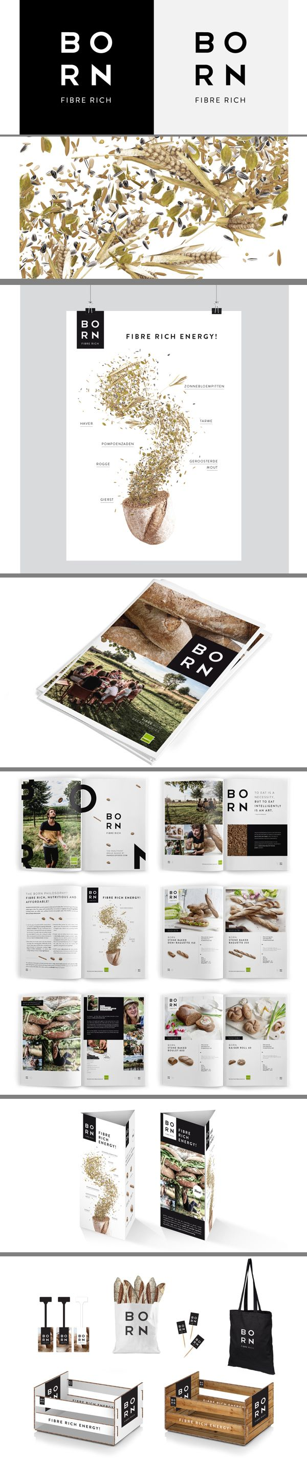 Born food #identity #packaging #branding PD