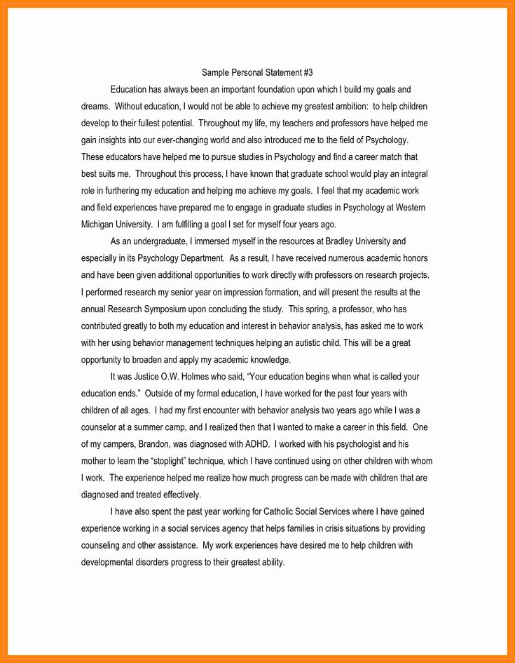 Apa format Personal Statement Elegant 6 format for