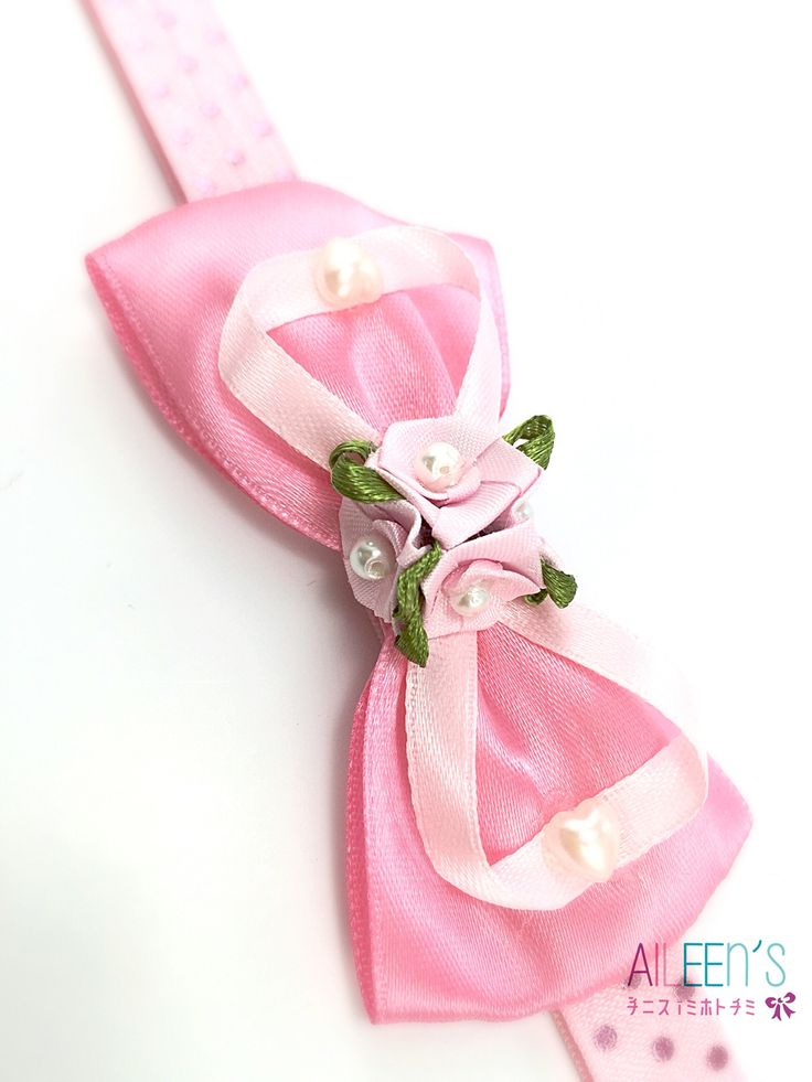 Pink Pearly baby headband