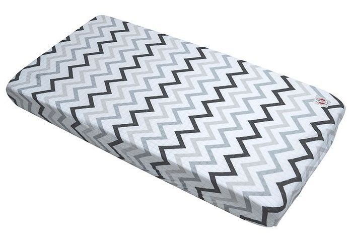 Ledikant hoeslaken Zigzag print black/white 70x140cm