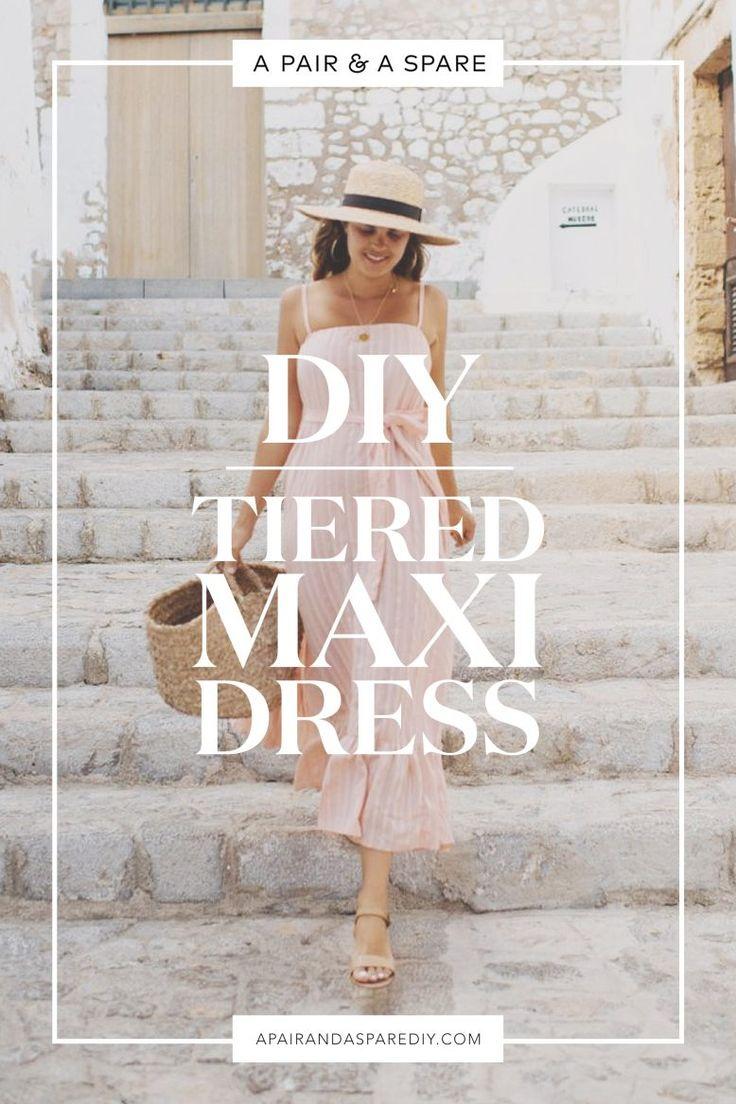 Make this DIY Tiered Maxi Dress 2