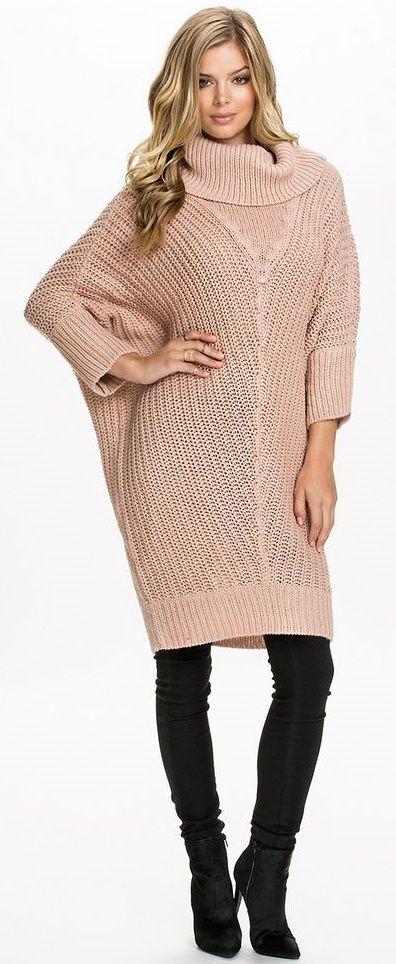 knit sweater-dress