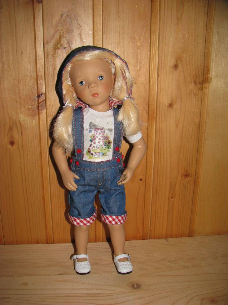 Denim Overall for 33-35 cm doll (Petitcollin Minouche,Paola reina) by NatZayShop on Etsy