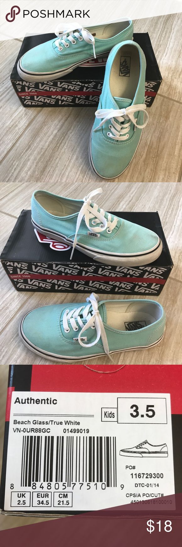 Beach Glass Mint Vans Lots of wear left.... just a few scuffs otherwise in great shape! Vans Shoes Sneakers