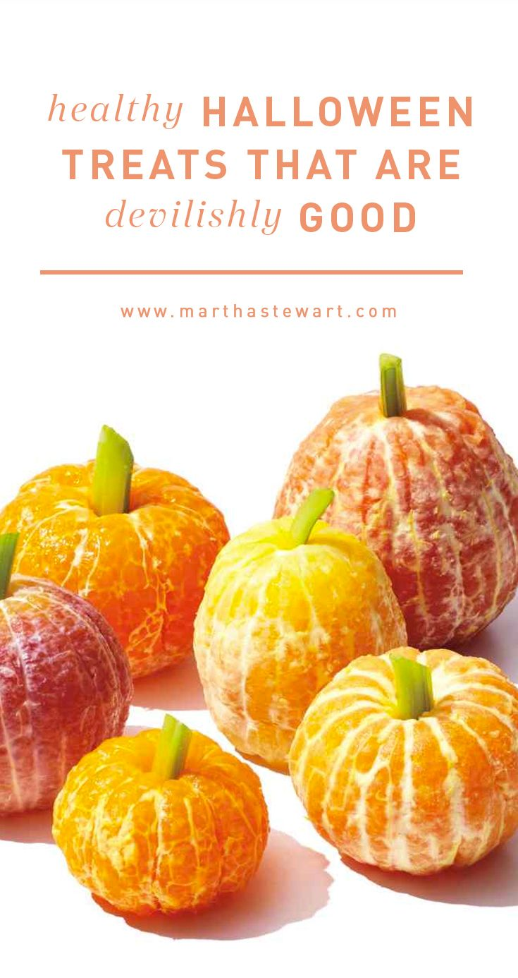 Healthy Halloween Treats That Are Devilishly Good | Martha Stewart Living - Beyond the ghosts and witches, Halloween is a frightful holiday for a lot of parents because of one thing: sweets! Want your kids to skip the prepackaged candy? Serve up some homemade treats the boys and ghouls can't resist.