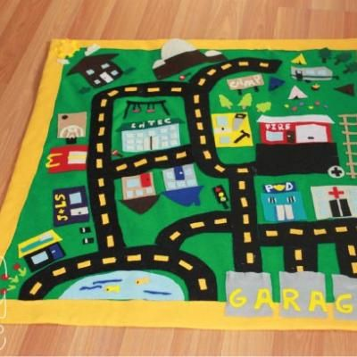 felt car play mat diy christmas gifts