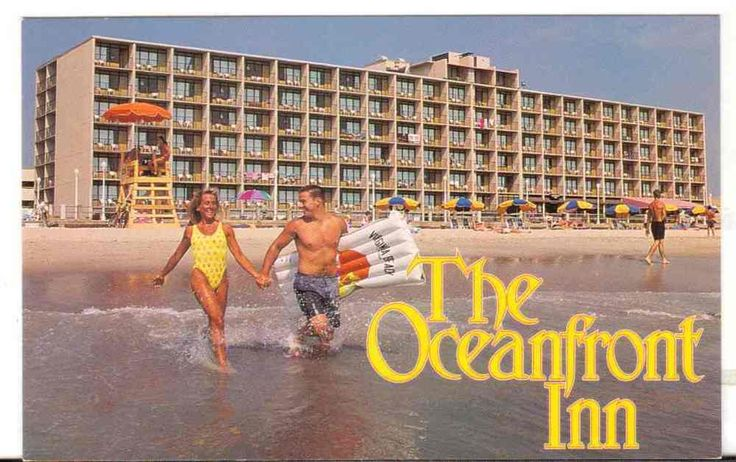 Undated Unused Postcard The Oceanfront Inn Virginia Beach VA Swimsuits Ocean