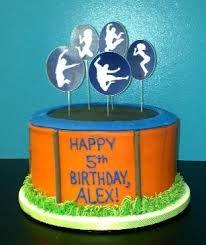 Image result for trampoline birthday cake ideas                              …