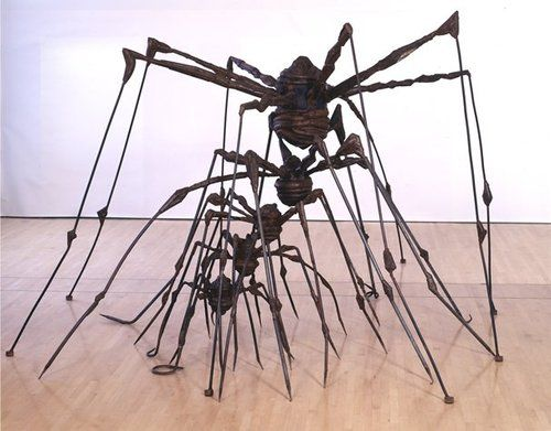 Louise Bourgeois She viewed the spider as friendly and helpful, comparing it to her mother who made tapestries.