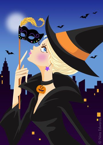 im thinking halloween party nina edwards - Cute Halloween Witches