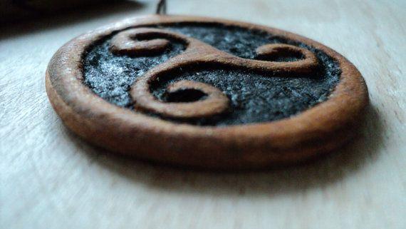Handmade wooden Triskelion amulet by TOFRAR on Etsy