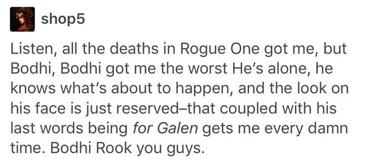 Rogue One, Star Wars, Bodhi Rook, Galen Erso
