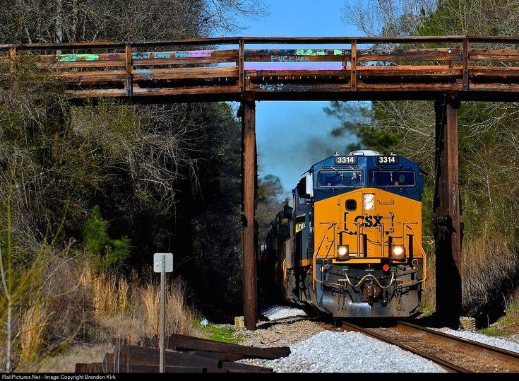 RailPictures.Net Photo: CSXT 3314 CSX Transportation (CSXT) GE ET44AH at Broughton, Alabama by Brandon Kirk