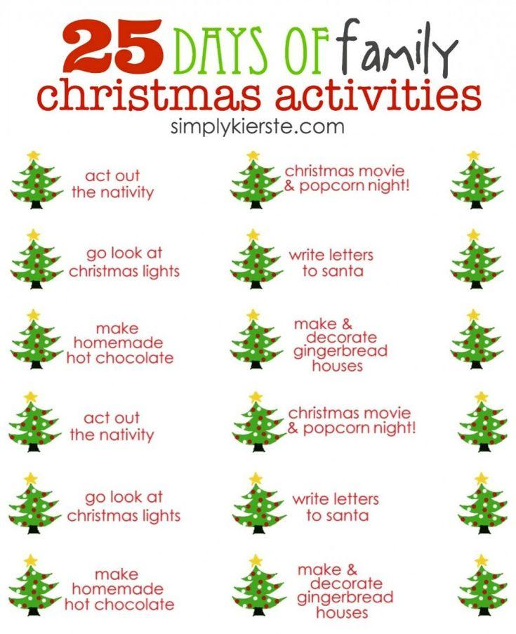 25 days of family christmas activities free printables simplykierstecom