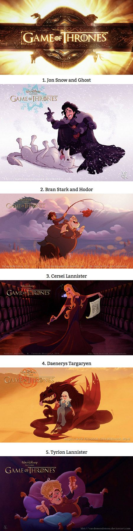 Full set of Game of Thrones Disney-Style