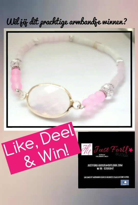 Like, Share & Win!  Check Facebook.  ♥ Just ForU ★Bijoux