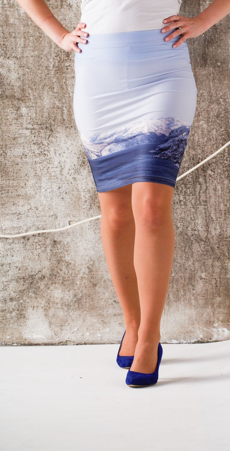 Pencil skirt collection by Jeanette Nilssen, inspired by the Norwegian nature. Here the famous Lysefjorden. What a beauty!!