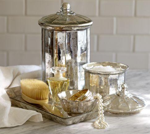 Mercury Glass Bath Accessories  