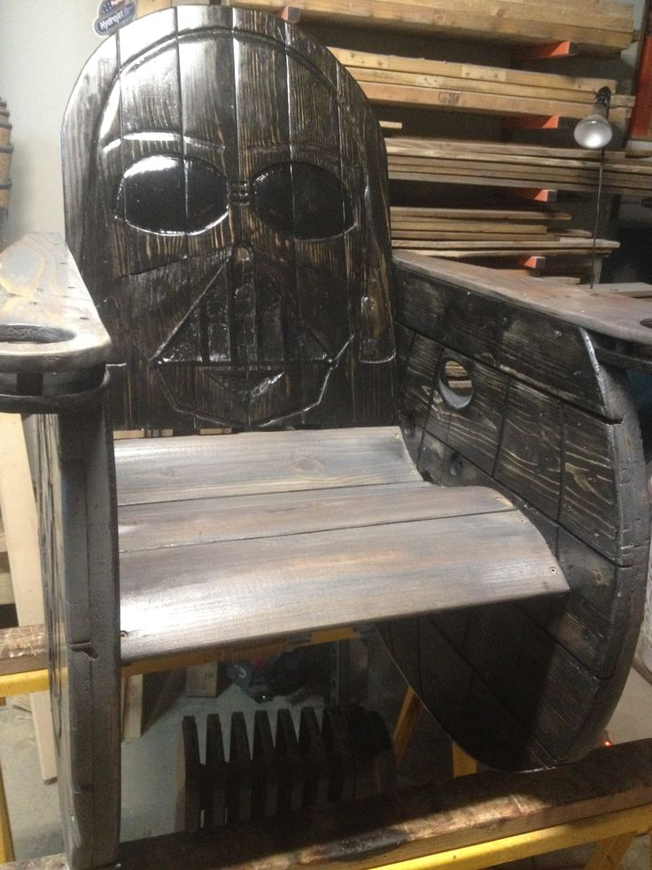 Darth Vader Rocking Chair From Reclaimed Spool And Pallets Furniture Stuffs Pinterest
