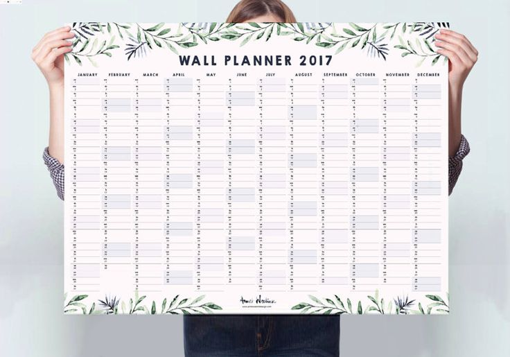 Calendar Wall Planner 2017 Instant Download von ThePrintBoutiqueCo