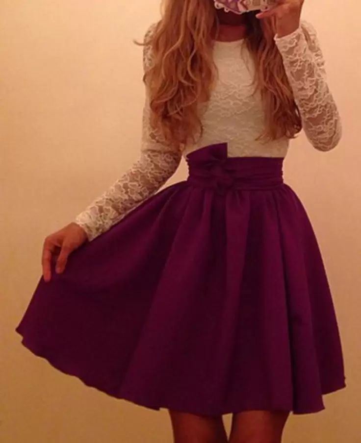 Laced top to go with a skater skirt