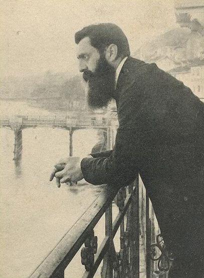 Zionism, Theodor Herzl, Basel, around 1900.