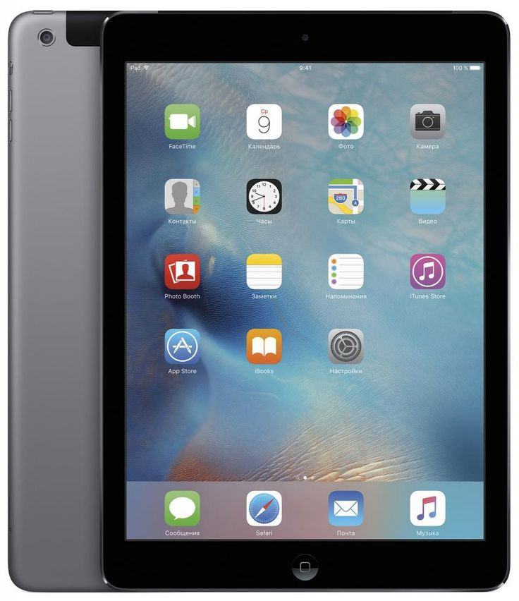 Толщина iPad Air – всего 7,5 мм, а вес – 469 г. Несмотря на невероятную легкость, его алюминиевый корпус очень прочен и долговечен. На 9,7-дюймовом дисплее Retina фотографии и фильмы от…