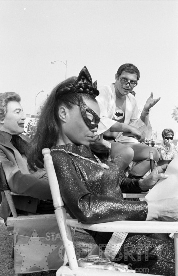 BATMAN circa 1966 Cesar Romero Eartha Kitt Adam West