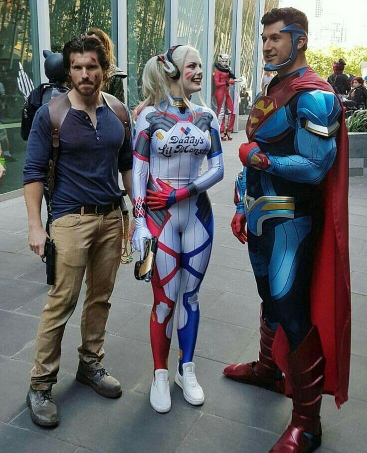 Harley And Super Man Cosplay Musicas Mais Tocadas Fantasias