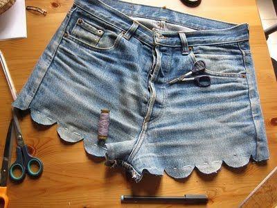 DIY Scallop Shorts