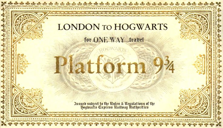 Hogwarts Express ticket :) for a Halloween Party! @Laura Hall's kids would loooove this!