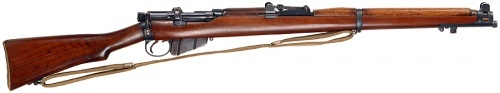 .303in Lee Enfield No.1 Mk.III.  You can keep your plastic, pellet gun caliber rifles...
