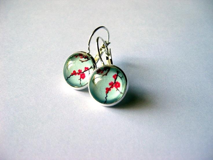 Pretty Birds Creations - Celedon Blossom Earrings