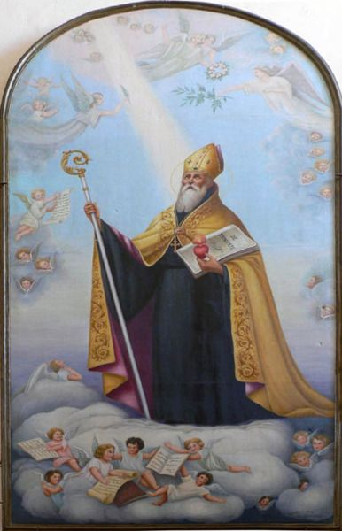 """theraccolta: """" Saint Augustine of Hippo I have found David My servant, with My holy oil have I anointed him for My hand shall help him. """""""