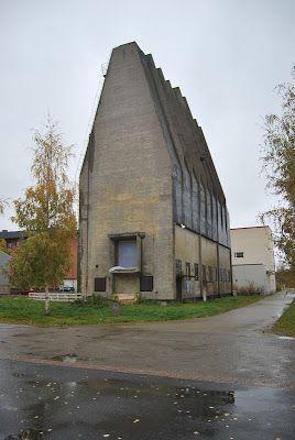 Silo, cellulose factory Oulu, Finland 1931 Alvar Aalto