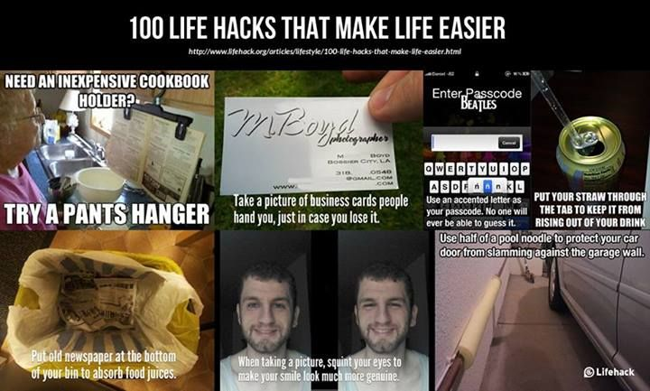 100 Life Hacks That Make Life Easier