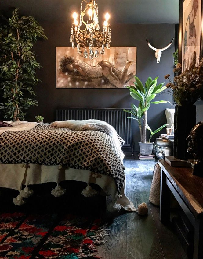 Catherine Ashton S Dark And Moody Abigail Ahern Inspired Home Bedroom Interior Interior Design Bedroom Eclectic Bedroom