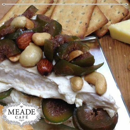Visit Meade Cafe for our delicious snacks and platters - come join in our lovely atmosphere. #meadecafe #snacks #platters